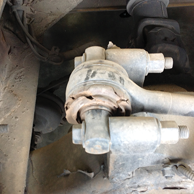 ATRO torque rods rebush or replace when bushing material is torn or cracked