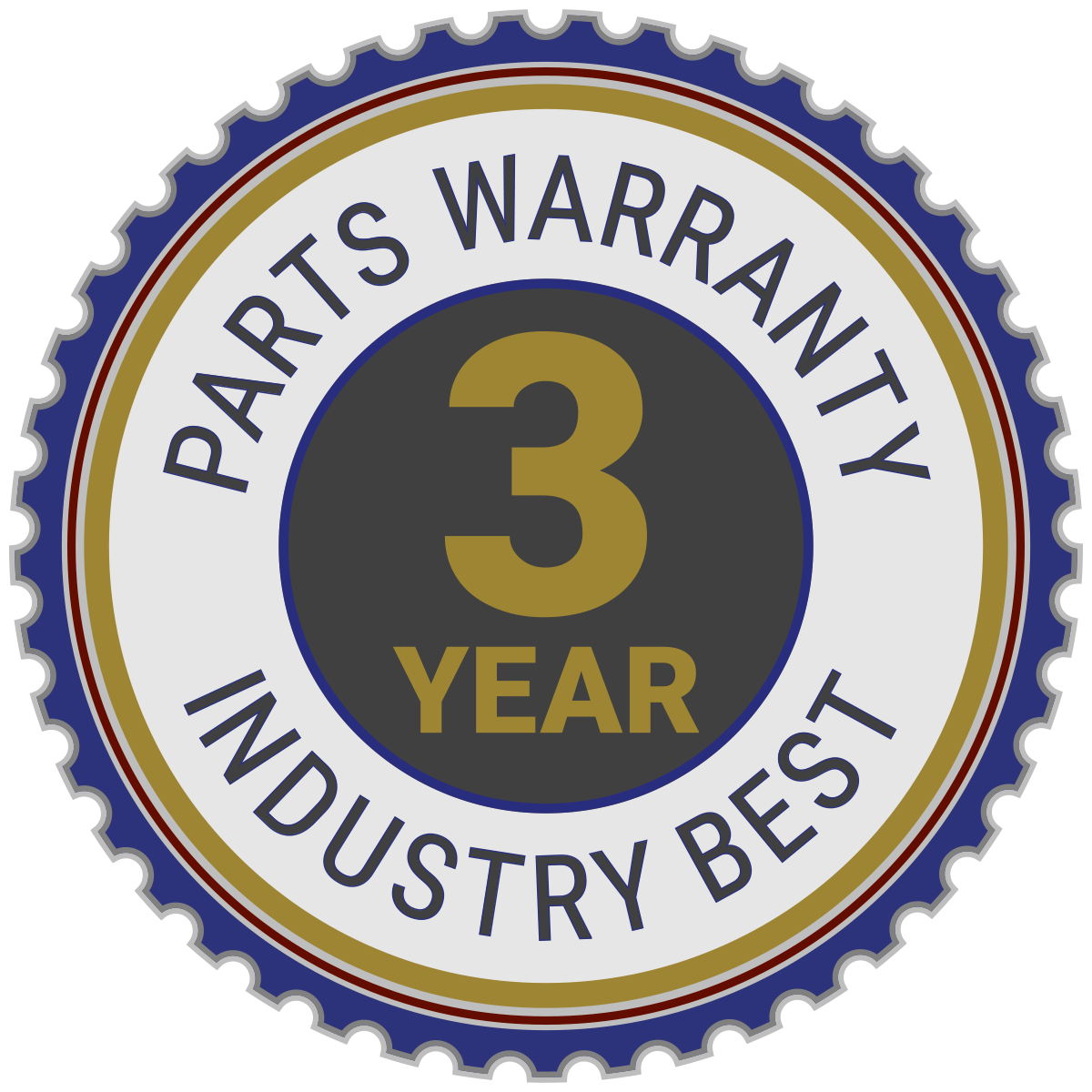 ATRO Industry Leading 3-Year Warranty