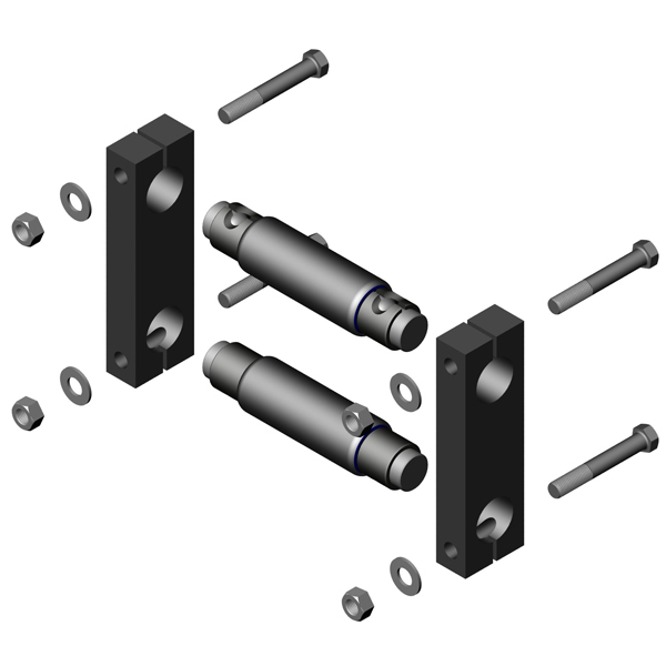 ATRO front suspension parts for heavy duty trucks